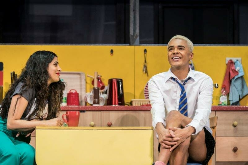 Sejal Keshwala Ray and Layton Williams Jamie in Everybodys Talking About Jamie at the Apollo Theatre. Photo credit Johan Perrson