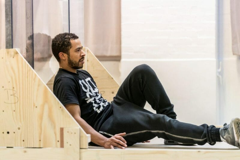 Ukweli Roach in rehearsal for Jesus Hopped the A Train c Johan Persson