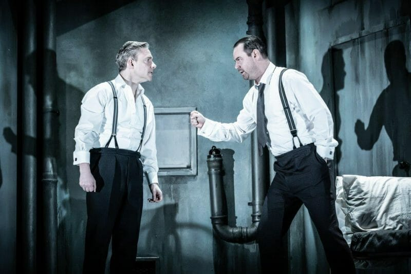 l r Martin Freeman and Danny Dyer in Pinter Seven. Photo credit Marc Brenner