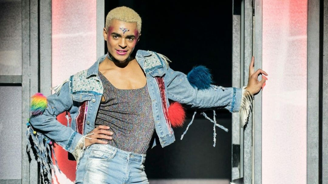 Layton Williams Jamie in Everybodys Talking About Jamie at the Apollo Theatre. Photo credit Johan Perrson.