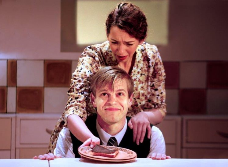 L R Lizzy Muncey as Mum Giles Cooper as Nigel Slater c Simon Annand