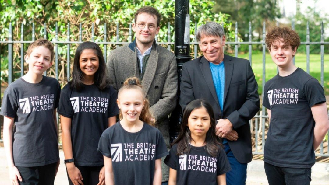 Stephen Schwartz with members of the British Theatre Academy and BTA Alumnus Matthew Seadon Young