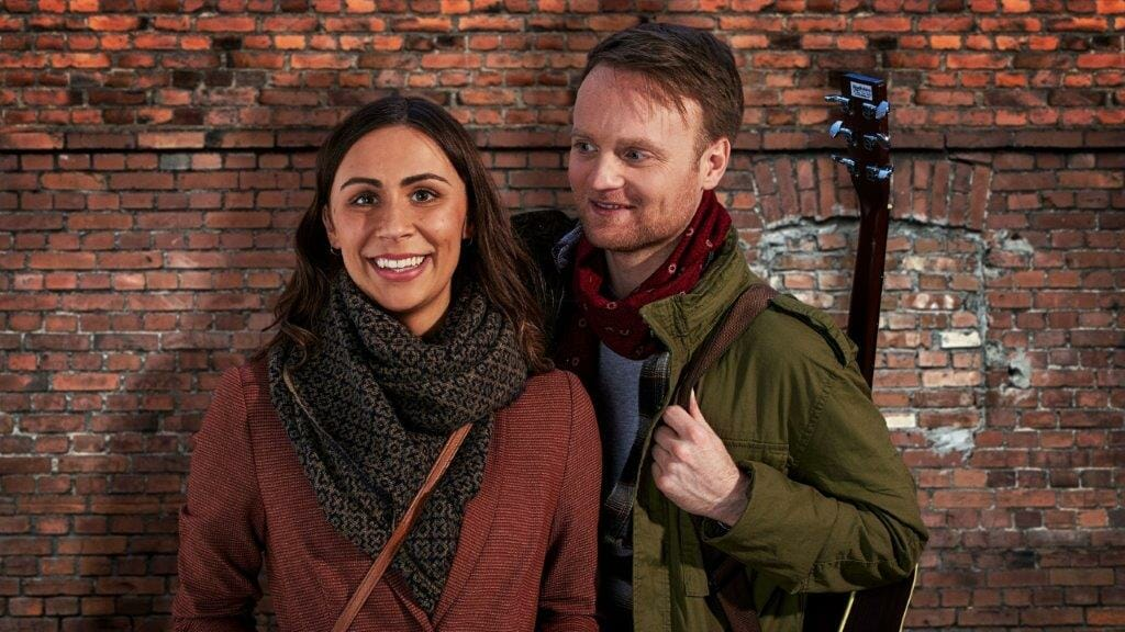Daniel Healy as Guy and Emma Lucia as Girl ONCE UK Tour