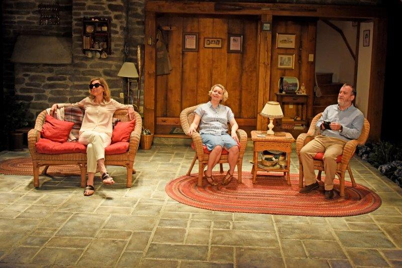 Janie Dee Rebecca Lacey Mark Hadfield in Vanya and Sonia and Masha and Spike. Credit Nobby Clark