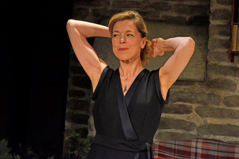 Janie Dee in Vanya and Sonia and Masha and Spike. Credit Nobby Clark