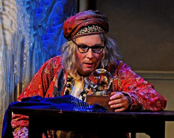 Jennifer Saunders in Blithe Spirit at Theatre Royal Bath. Credit Nobby Clark