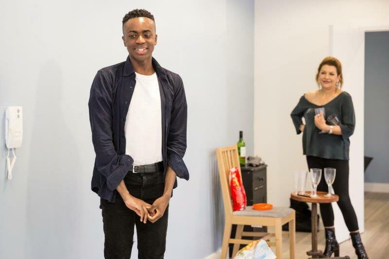 Kwaku Mills and Marina Sirtis Courtesy of Scott Rylander