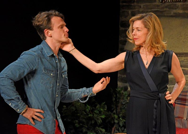 Lewis Reeves Janie Dee in Vanya and Sonia and Masha and Spike. Credit Nobby Clark
