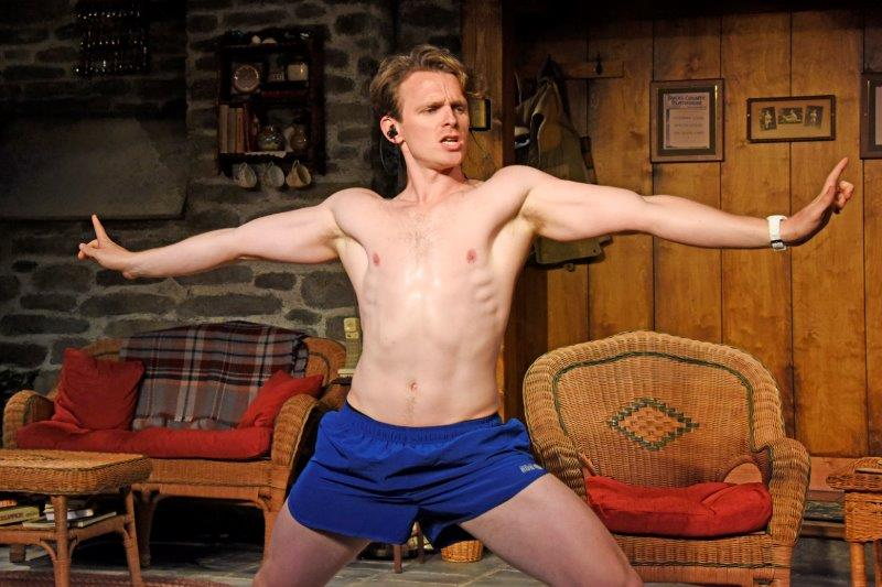 Lewis Reeves in Vanya and Sonia and Masha and Spike. Credit Nobby Clark