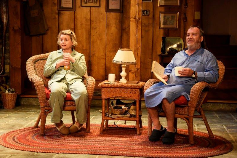 Rebecca Lacey Mark Hadfield in Vanya and Sonia and Masha and Spike. Credit Nobby Clark