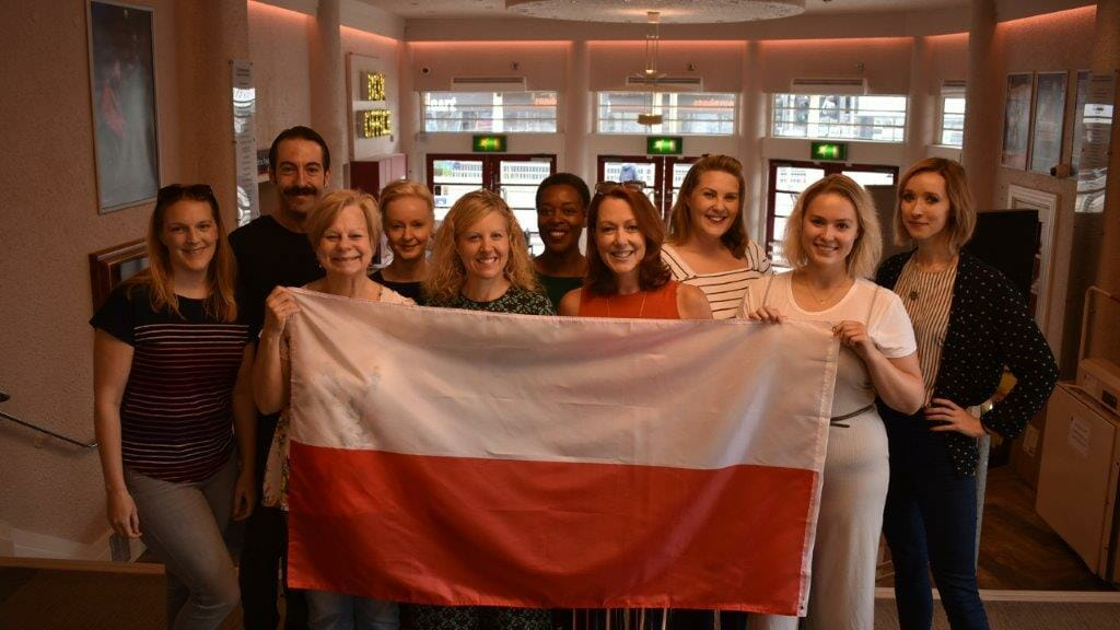 Stepping Out Cast with Polish Flag