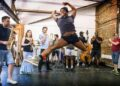 Kiss Me Kate Rehearsals Andre Fabien Francis and members of the cast Photo by Pamela Raith