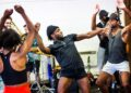 Kiss Me Kate Rehearsals Chioma Uma Andre Fabien Francis Jay Perry and members of the cast. Photo by Pamela Raith