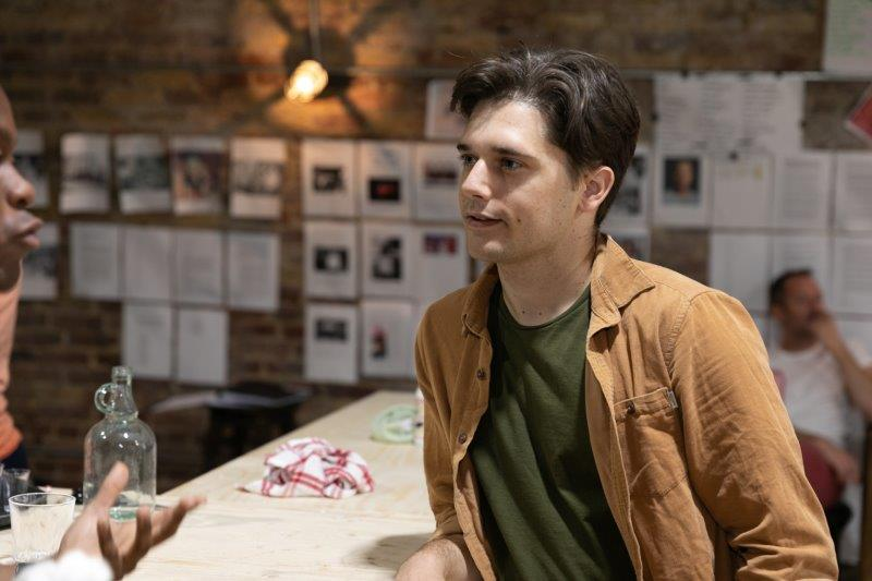 Andy Mientus in rehearsals for The View UpStairs credit Darren Bell