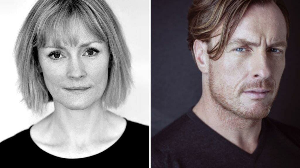 Claire Skinner and Toby Stephens