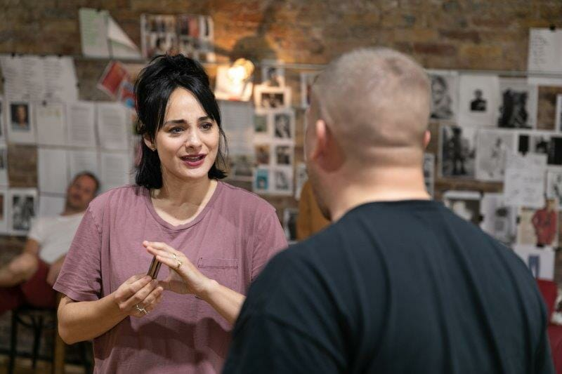LtoR Victoria Hamilton Barritt and Garry Lee in rehearsals for The View UpStairs credit Darren Bell