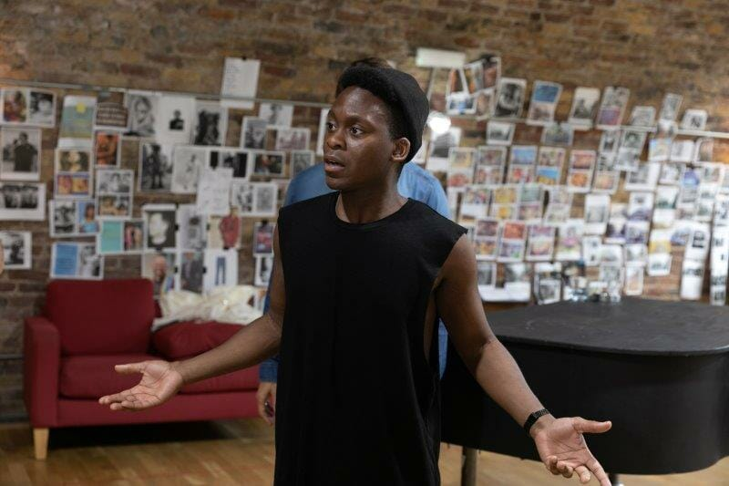 Tyrone Huntley in rehearsals for The View UpStairs credit Darren Bell