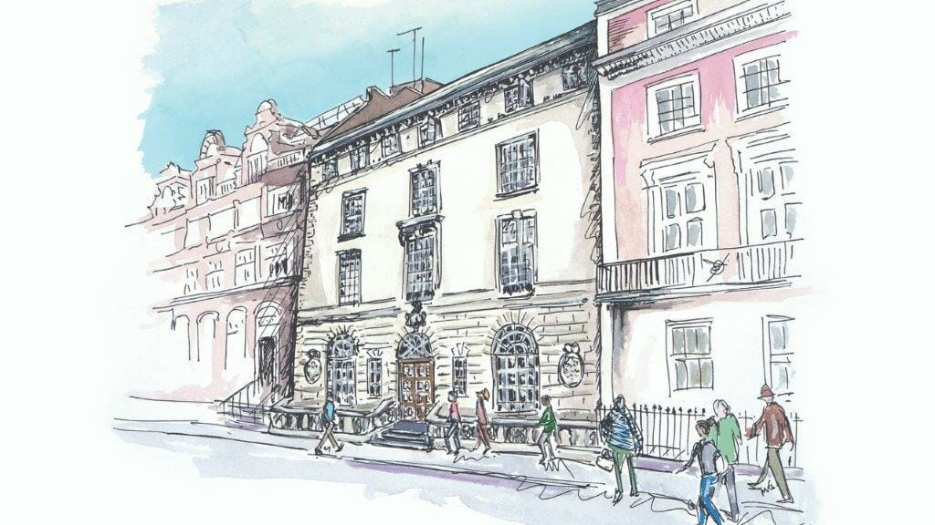 Davies Street sketch by Milly England