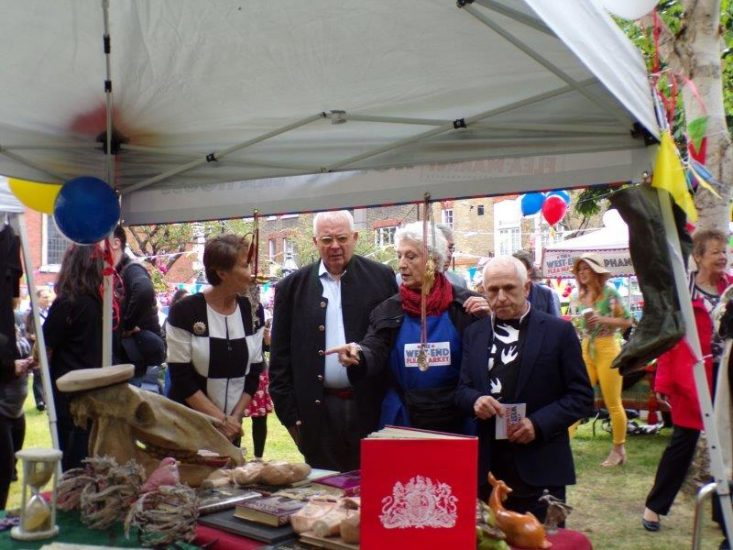 The Judges visit the Royal Opera House stall