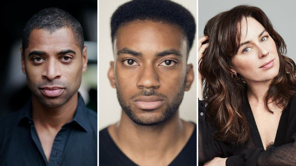 Cast of in a word at The Young Vic