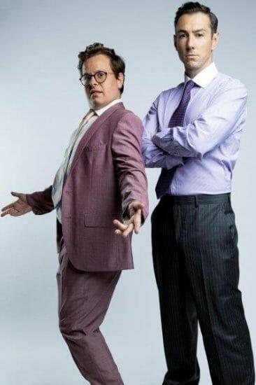 James Bryant as Danny Oliver Tilney as Jordan Belfort in The Wolf of Wall Street. Credit Cam Harle