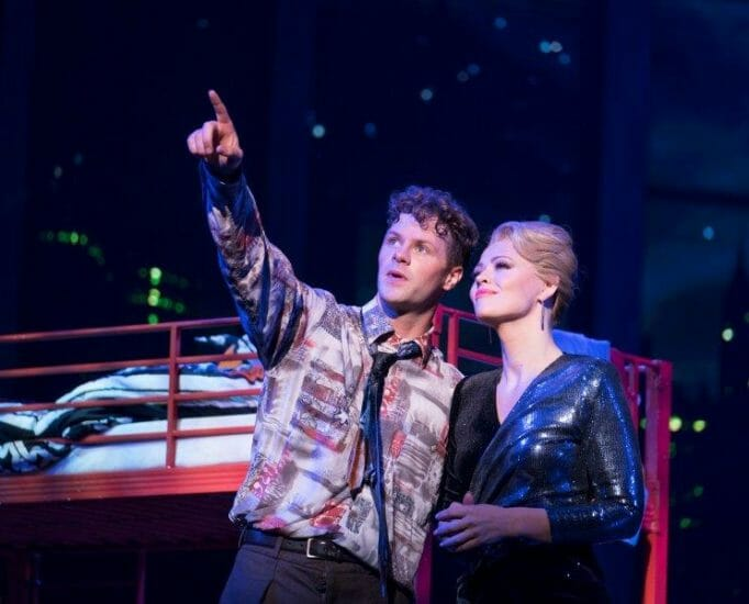 Jay McGuiness as Josh Baskin Kimberley Walsh as Susan Lawrence Credit Alastair Muir