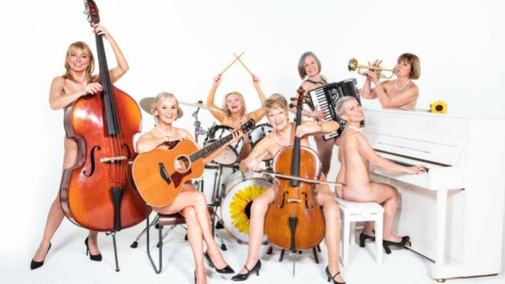 The Cast of Calendar Girls The Musical Including Ruth Madoc