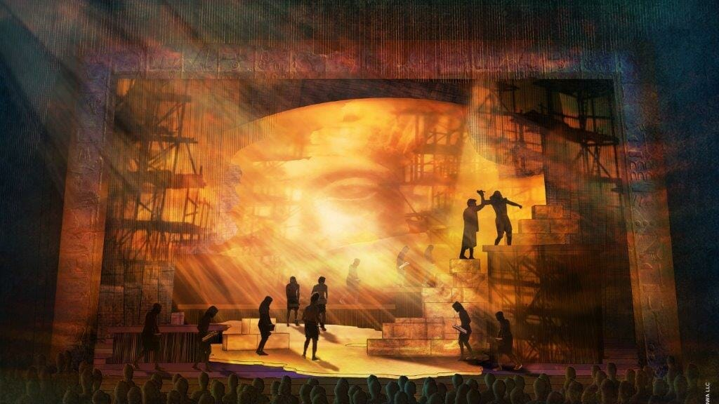 The Prince Of Egypt Set design by Kevin Depinet. © DWA LLC
