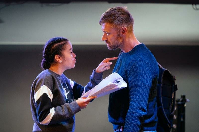 We Anchor in Hope Rehearsals Alex Jarrett and Alan Turkington credit Helen Murray