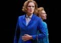 Zoë Aldrich as Mags and Jan Goodman as T Handbagged at the New Vic Theatre. Photo by Mark Douet A