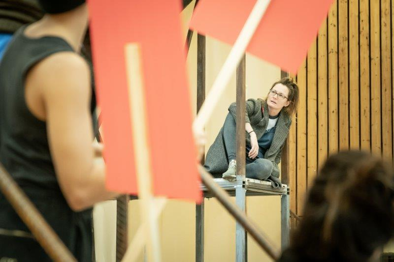 Catherine McCormack in rehearsals for My Brilliant Friend. Image by Marc Brenner