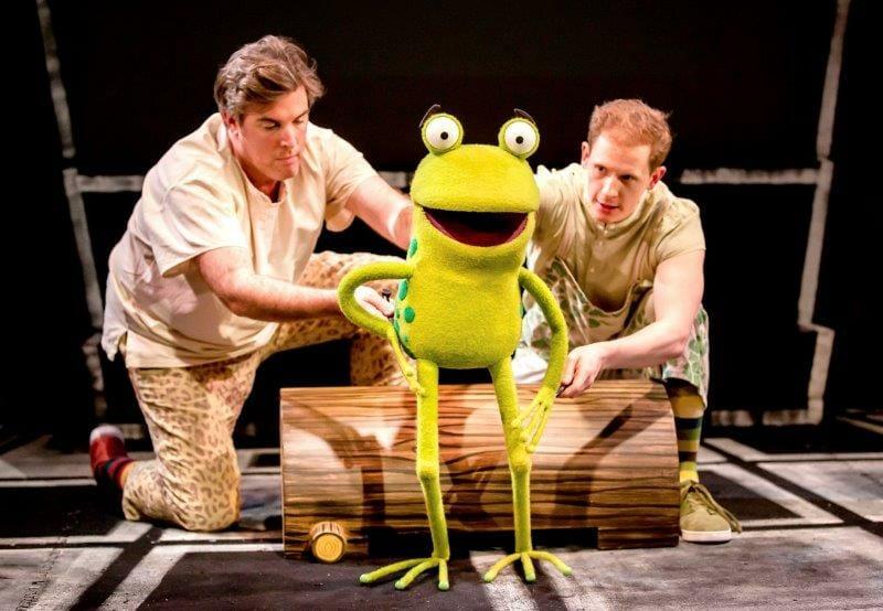 L R Simon Yadoo John Winchester as Frog in Oi Frog Friends Pamela Raith Photography