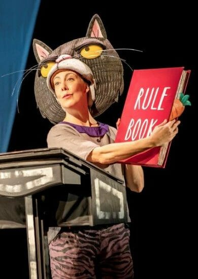 Lucy Tuck as Cat in Oi Frog Friends Pamela Raith Photography