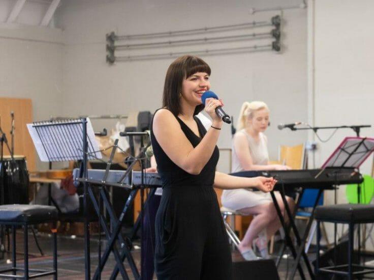 Katie Elin Salt Jack and the Beanstalk Rehearsals Theatr Clwyd c Brian Roberts