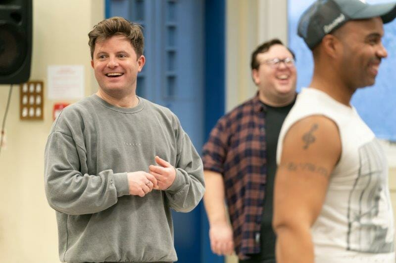 Choreographer Matt Flint in rehearsals for Guys and Dolls. Photo by Johan Persson.