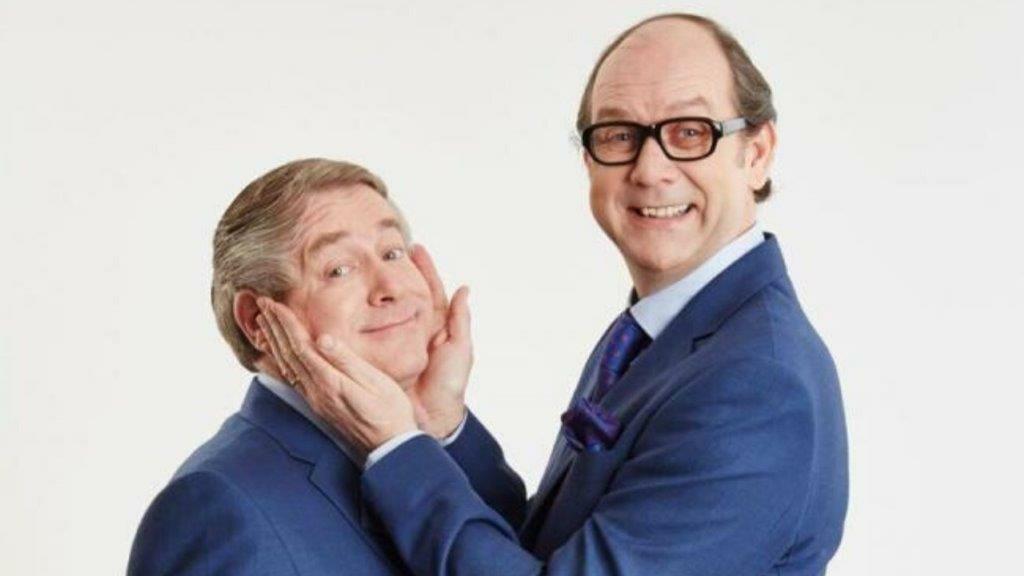 Ian Ashpitel and Jonty Stephens as Eric Ern The Duke of York Theatre