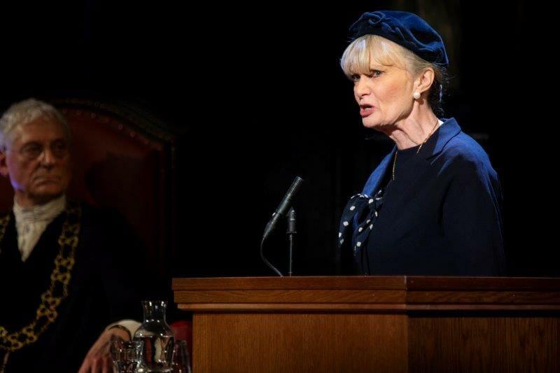 Jane Lambert as Janet Mackenzie in in Witness for the Prosecution. Credit Ellie Kurttz
