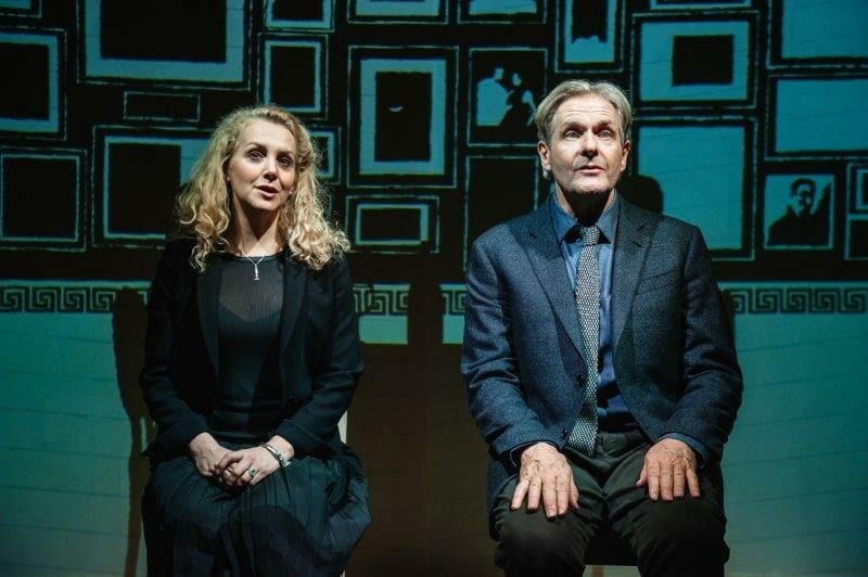 Rebecca Johnson and Robert Bathurst Love Loss Chianti credit Alex Harvey Brown