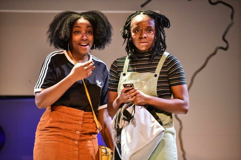Renee Bailey Lea and Nneka Okoye Nene in Unknown Rivers at Hampstead Downstairs. Photo credit Robert Day.