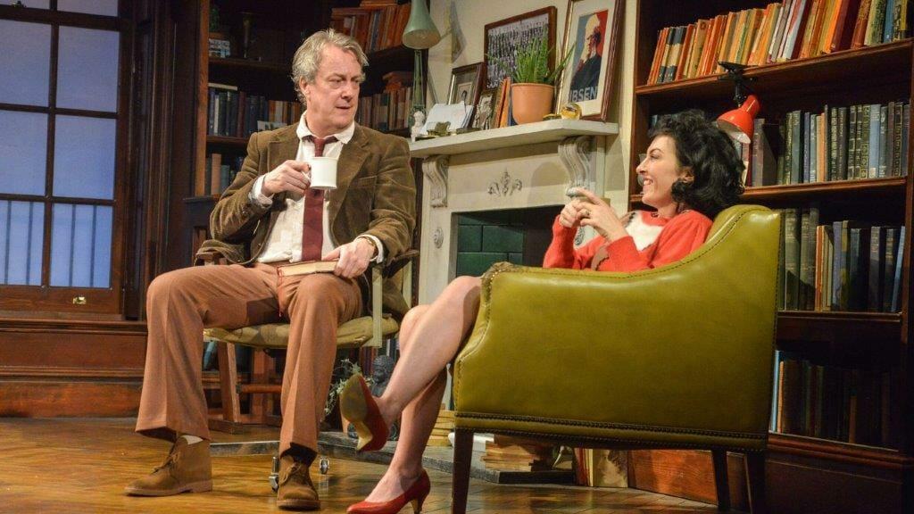 Stephen Tompkinson as Frank and Jessica Johnson as Rita in EDUCATING RITA. Credit Robert Day