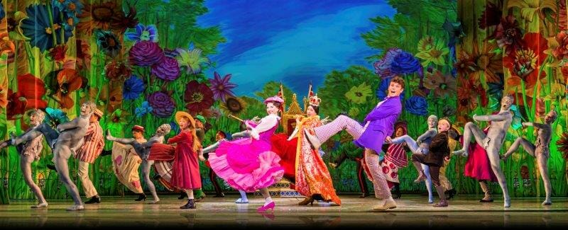 Zizi Strallen Charlie Stemp and Company in Mary Poppins Photograph Johan Persson