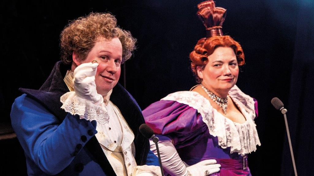 Matt Lucas as Thénardier and Katy Secombe as Madame Thénardier Photograph Michael Le Poer Trench