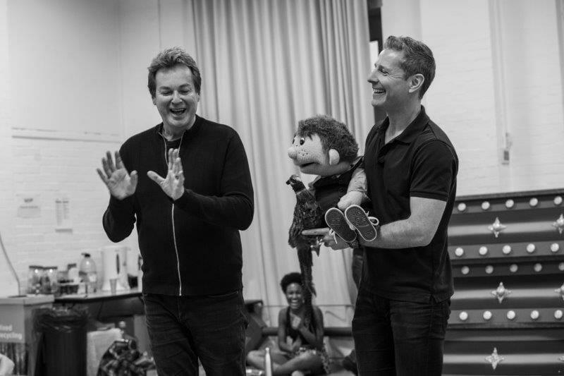 l r Julian Clary and Paul Zerdin Goldilocks and the Three Bears London Palladium Rehearsals Photo Credit Craig Sugden