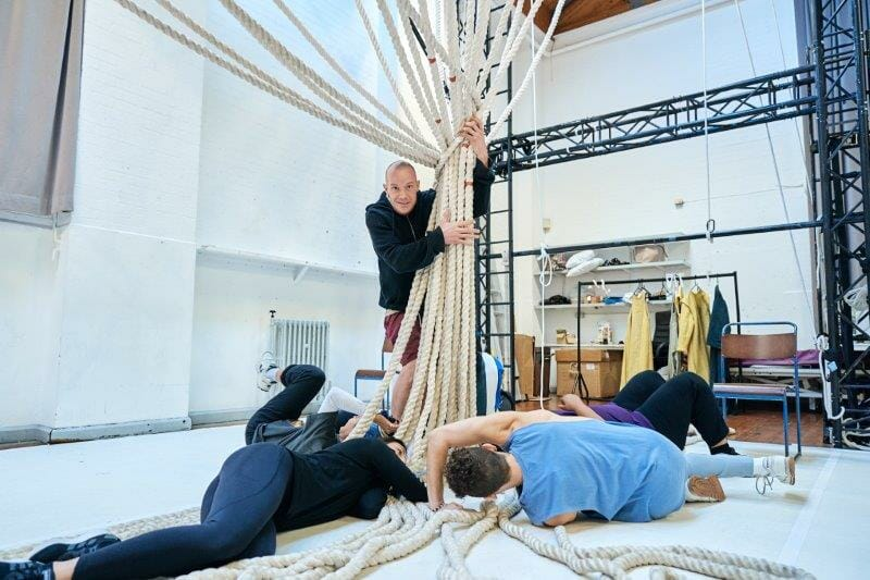Keith Gilmore Monster and cast of the A Monster Calls UK Tour in rehearsals. Photo credit Manuel Harlan.