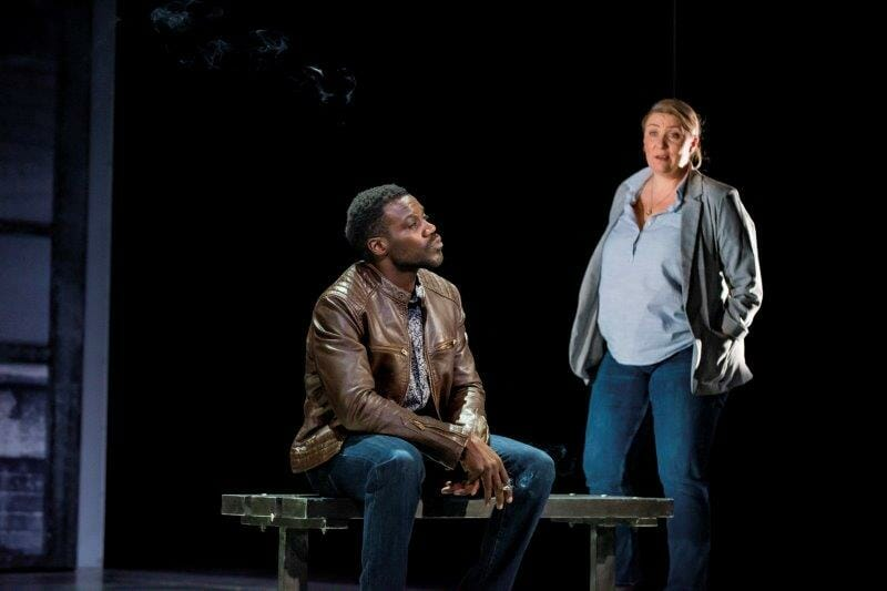 Marlon G. Day Dad and Melissa Jacques Margaret in Everybodys Talking About Jamie at the Apollo Theatre. Photo credit Matt Crockett
