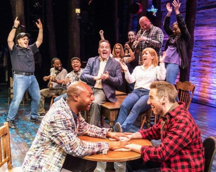 The West End company in Come From Away at the Phoenix Theatre Credit Craig Sugden