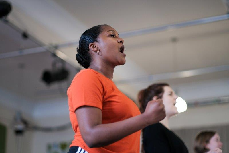 Alice Vilanculo in rehearsals for MALORY TOWERS credit Steven Barber