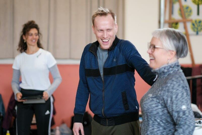 Alistair David in rehearsals for MALORY TOWERS credit Steven Barber