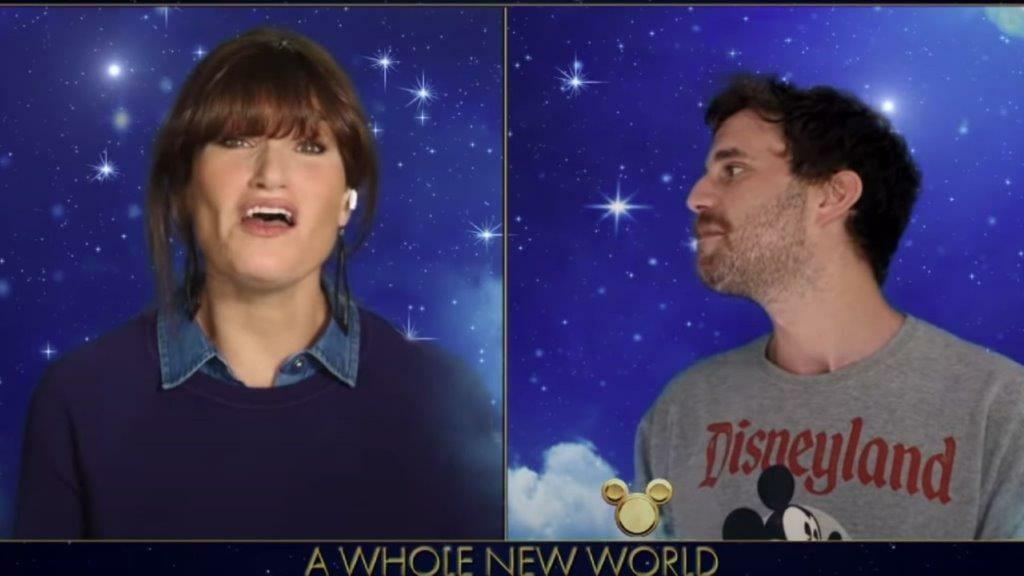 Idina Menzel and Ben Platt courtesy ABC YouTube Channel