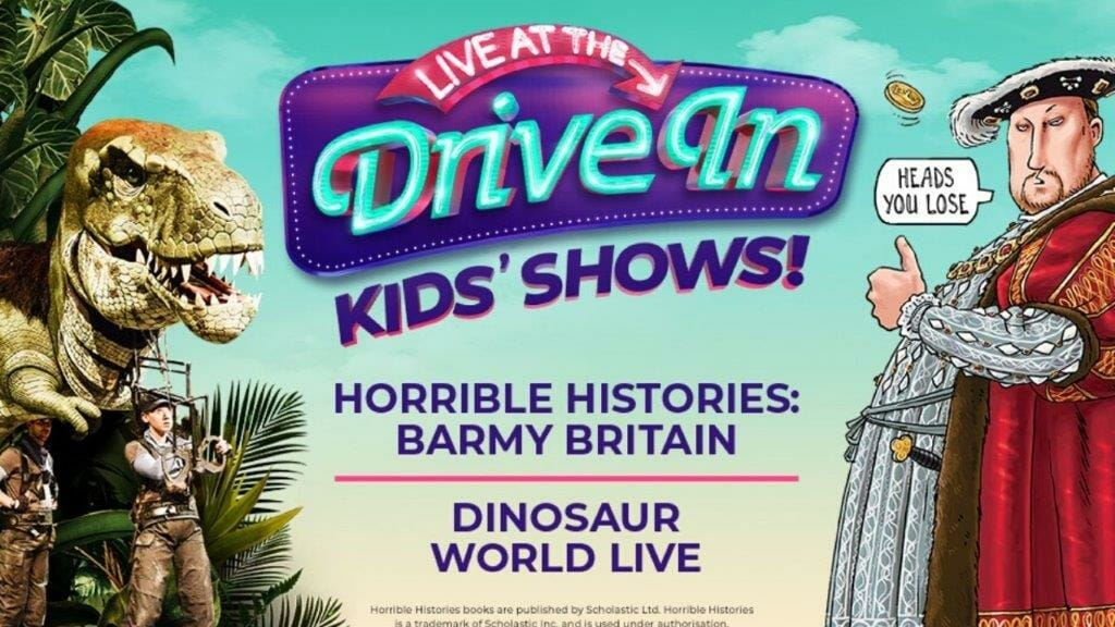 Horrible Histories Barmy Britain And Dinosaur World Live To Play The Drive In This Summer